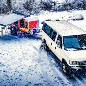 Winter Camping - Van life - First time in Snow